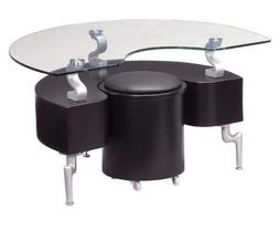 Global Furniture USA T288 Black Occasional End Table with Si