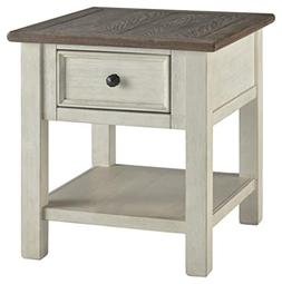 Signature Design by Ashley T637-3 Bolanburg End Table, Two-T