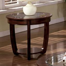 Furniture of America FA-CM4336E End Table Dark Cherry