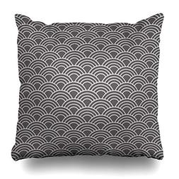 VivYES Throw Pillow Covers Abstract Wave Pattern Wall Color