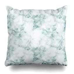 VivYES Throw Pillow Covers Nature Beige Pattern Blue Marble