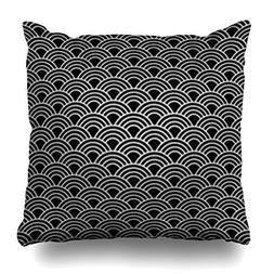 VivYES Throw Pillow Covers Circle Wave Pattern Wall Desk Geo