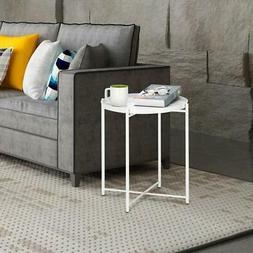 Tray Metal End Table Small Round Side Tables Coffee Table Ac