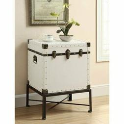 Benzara Trendy Trunk Style Accent Side Table