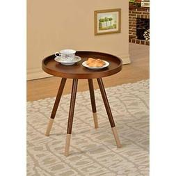 walnut end tables finish round bentwood chair