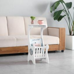 White Small Round End Side Accent Coffee Table Bedroom Livin