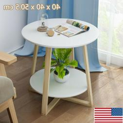 Wood Modern Sofa Bed Side End Table Accent Nightstand for Li