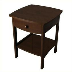 Winsome Wood Montibello Marble Top End Table - 24.0 Height -