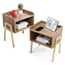 Wood Side End Table for Small Spaces Bedroom Nightstand Livi