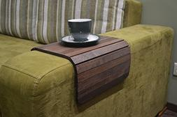 Wood Sofa Arm Tray 18x12 Inches Couch Side Table Caddy Armre