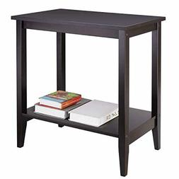HOMFA Wood Wide End Table Sofa Couch Side Coffee Table Night