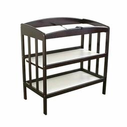 Wooden Changing Table With 2 Shelves And Slatted Sides, Cher