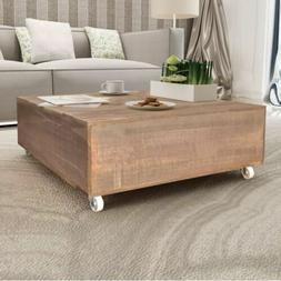 Wooden Coffee Table Side Table Living room Furniture Solid W