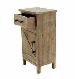 Wooden Freestanding Storage Cabinet Side Accent Table with B